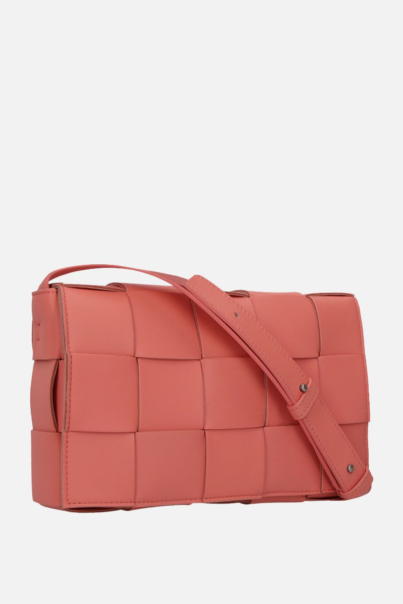 BOTTEGA VENETA: Cassette Maxi Intrecciato nappa shoulder bag Color Orange_2