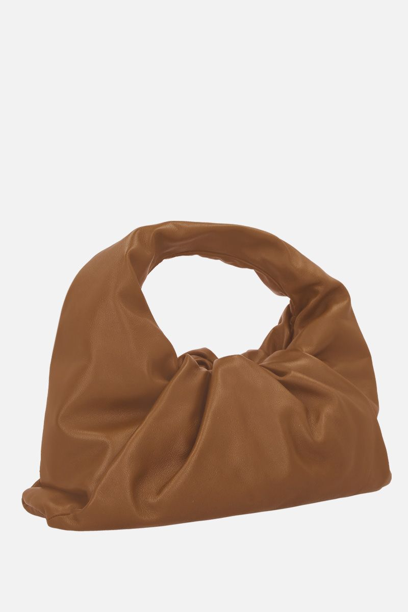 BOTTEGA VENETA: The Shoulder Pouch in smooth leather Color Neutral_2