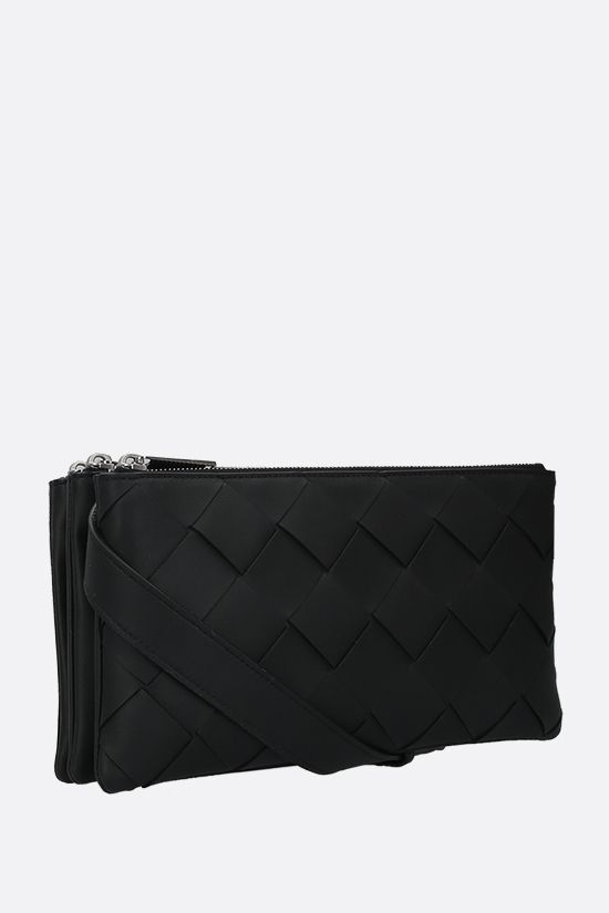BOTTEGA VENETA: Intrecciato nappa mini messenger bag Color Black_2