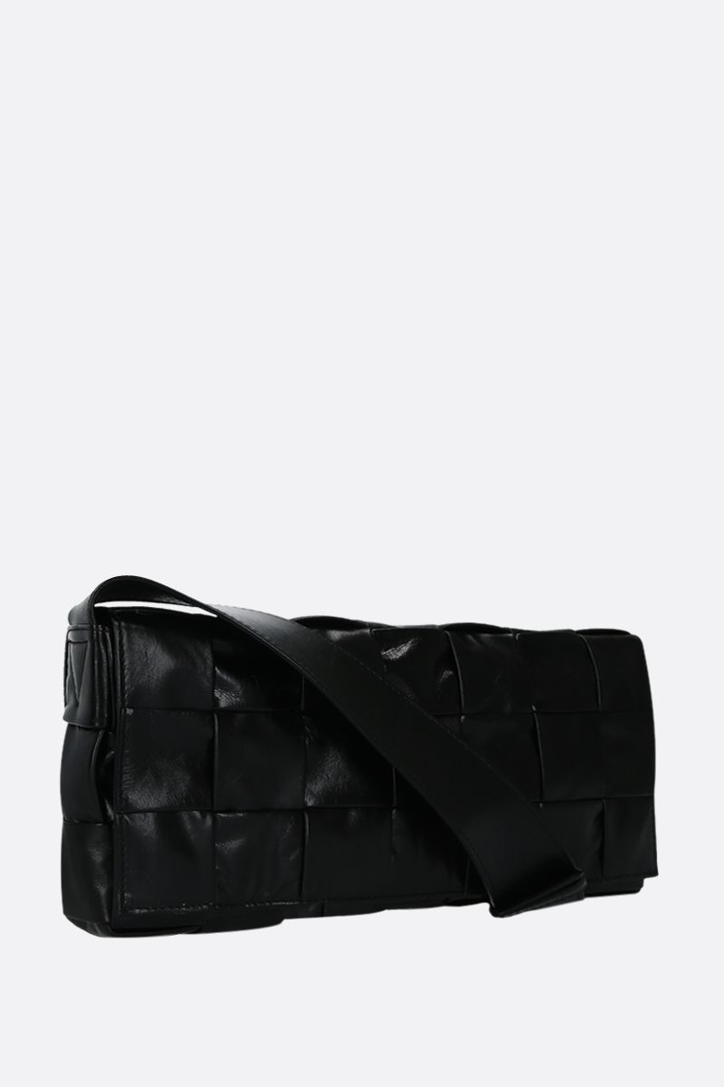 BOTTEGA VENETA: The Stretch Cassette bag in Intrecciato Paper Calf Color Black_2