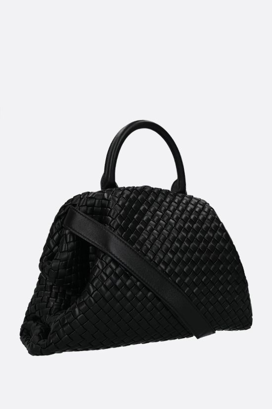 BOTTEGA VENETA: BV Handle handbag in padded Intrecciato nappa Color Black_2