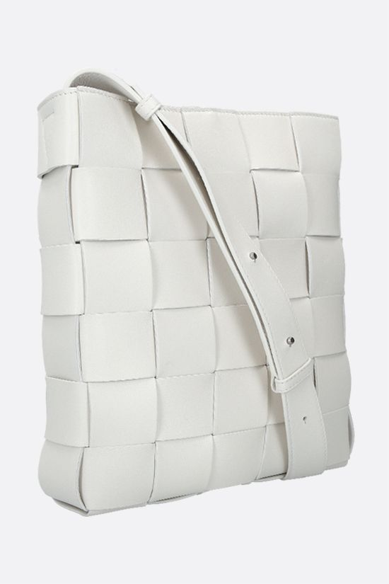 BOTTEGA VENETA: Cassette messenger bag in Intrrecciato nappa Color White_2