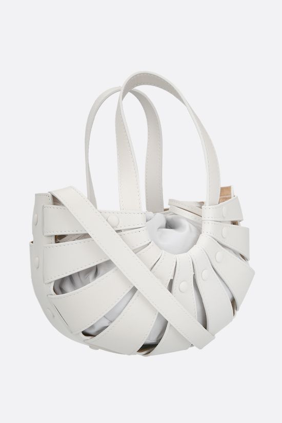 BOTTEGA VENETA: The Shell small smooth leather handbag Color White_2