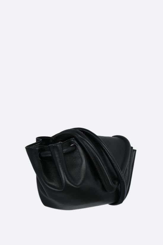 BOTTEGA VENETA: Beak small nappa crossbody bag Color Black_2