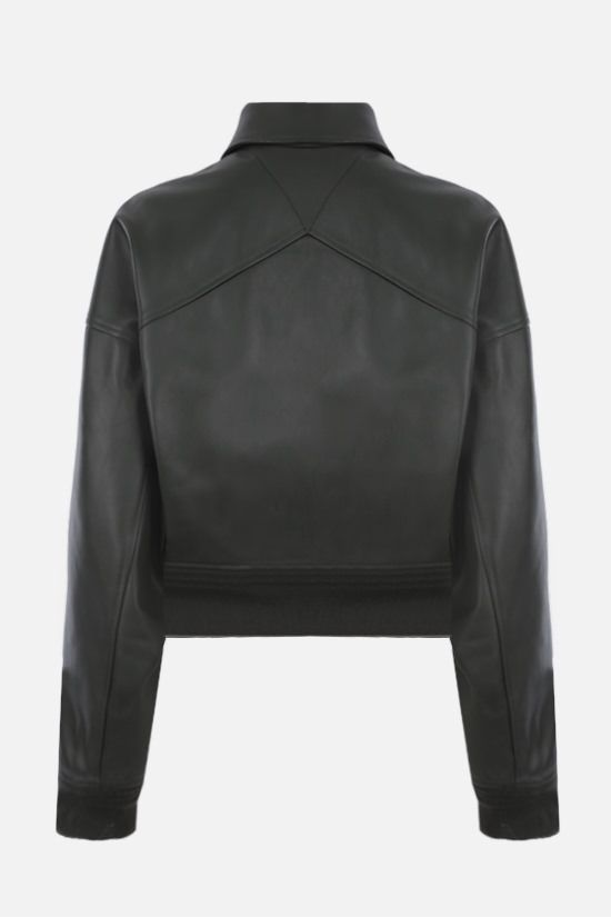 BOTTEGA VENETA: soft nappa cropped bomber jacket Color Multicolor_2