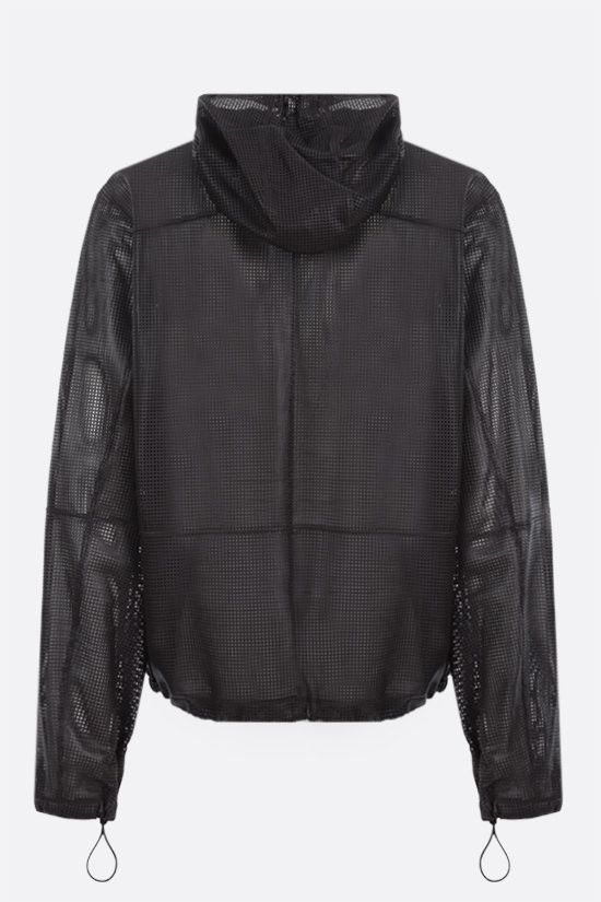 BOTTEGA VENETA: laser-cut leather full-zip jacket Color Brown_2