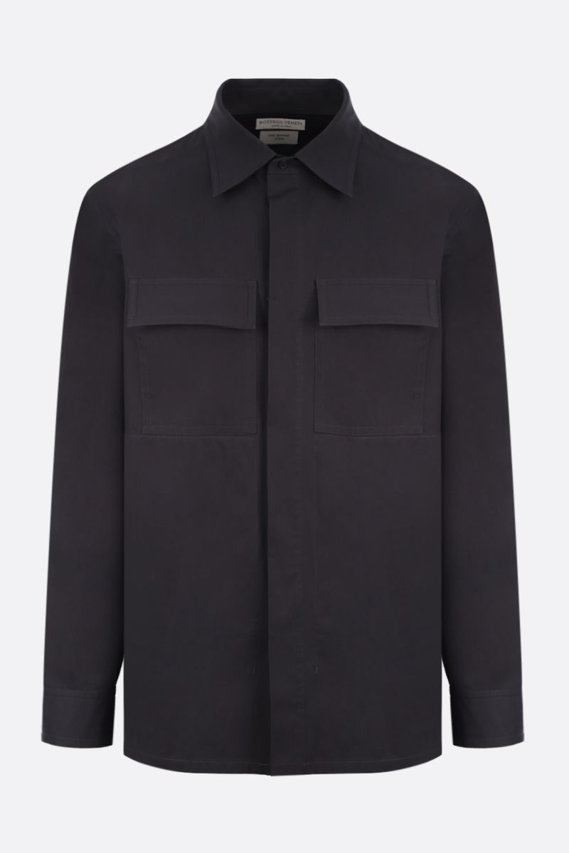 BOTTEGA VENETA: contrast panel-detailed cotton overshirt_1