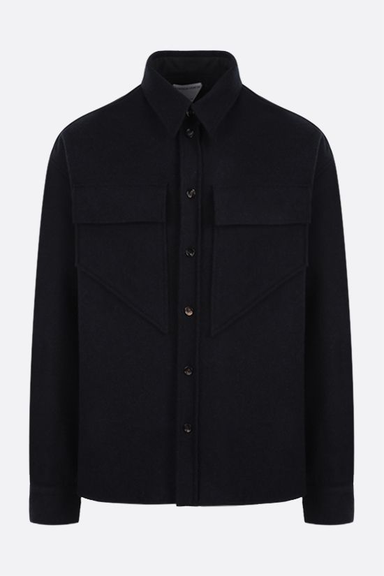 BOTTEGA VENETA: wool felt overshirt Color Blue_1
