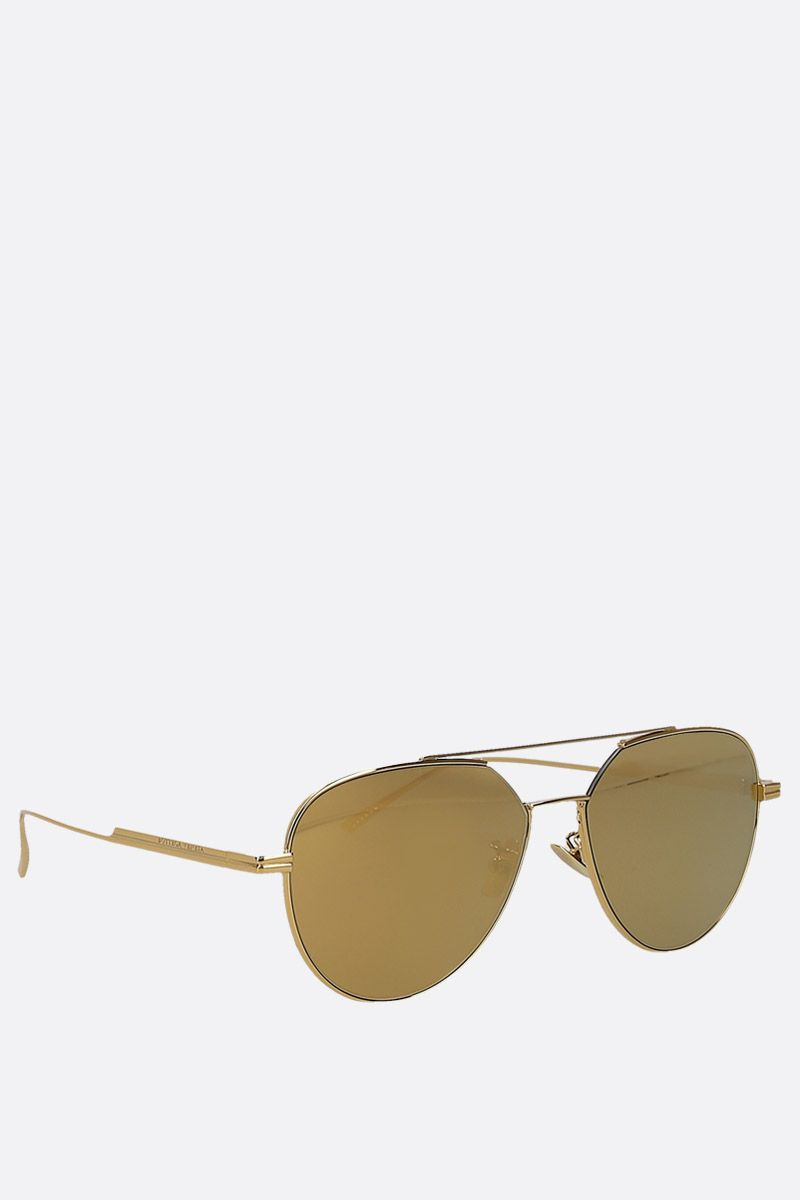 BOTTEGA VENETA: metal aviator sunglasses_2