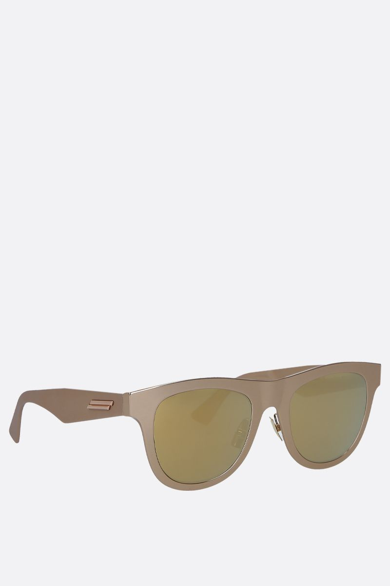 BOTTEGA VENETA: metal sunglasses Color Gold_2