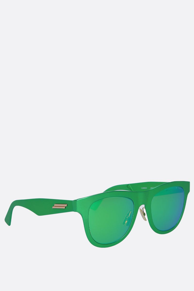 BOTTEGA VENETA: metal sunglasses Color Green_2