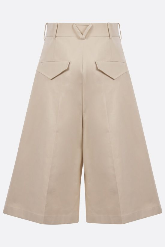 BOTTEGA VENETA: darted cotton shorts Color Neutral_2