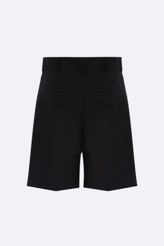 BOTTEGA VENETA: cotton twill darted shorts Color Black_2