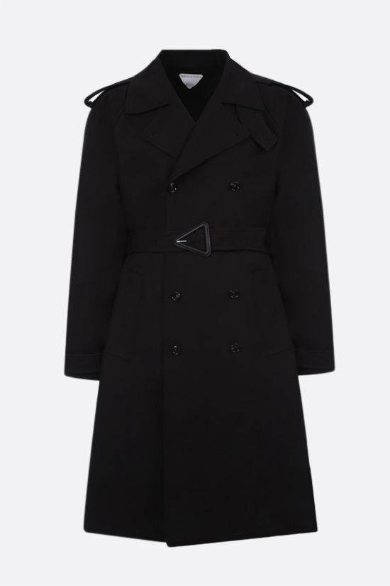 BOTTEGA VENETA: double-breasted cotton trench coat Color Black_1