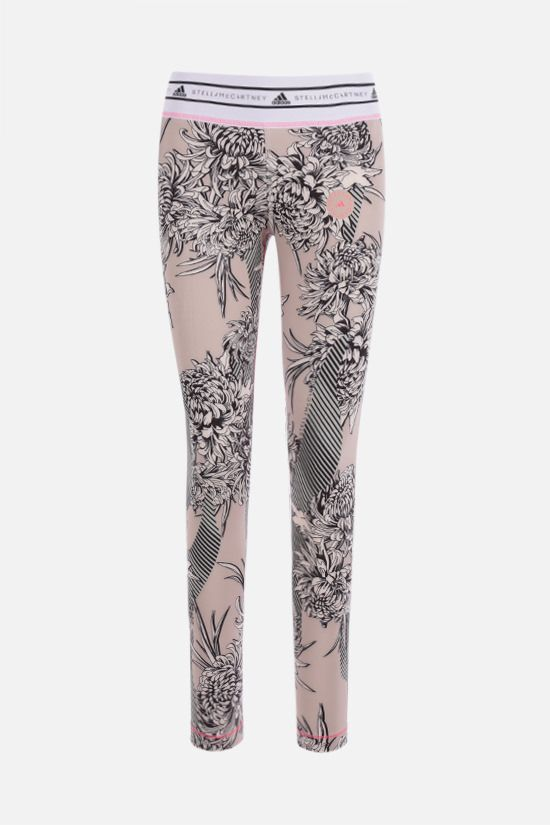 ADIDAS BY STELLA McCARTNEY: floral print technical jersey leggings Color Pink_1
