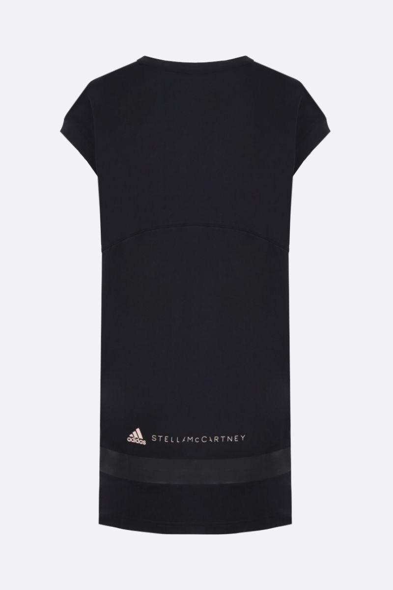 ADIDAS BY STELLA McCARTNEY: Muscle oversize cotton sleeveless t-shirt Color Black_2