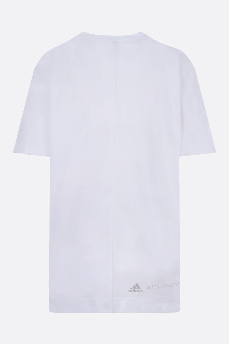 ADIDAS BY STELLA McCARTNEY: t-shirt oversize Graphic in cotone Colore Bianco_2