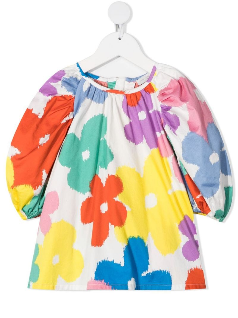 STELLA McCARTNEY KIDS: floral print cotton blouse Color Multicolor_1