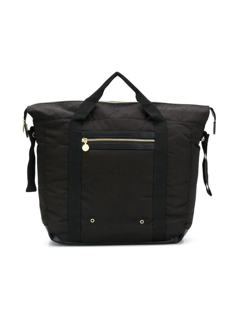 STELLA McCARTNEY KIDS: nylon backpack with changing mat Color Black_1