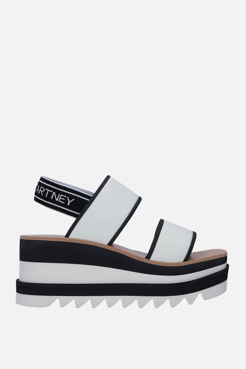 STELLA McCARTNEY: neoprene flatform sandals_1