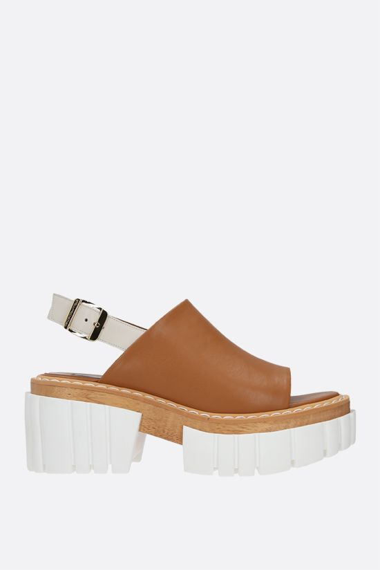 STELLA McCARTNEY: Emilie platform sandals in Alter Nappa Color Brown_1