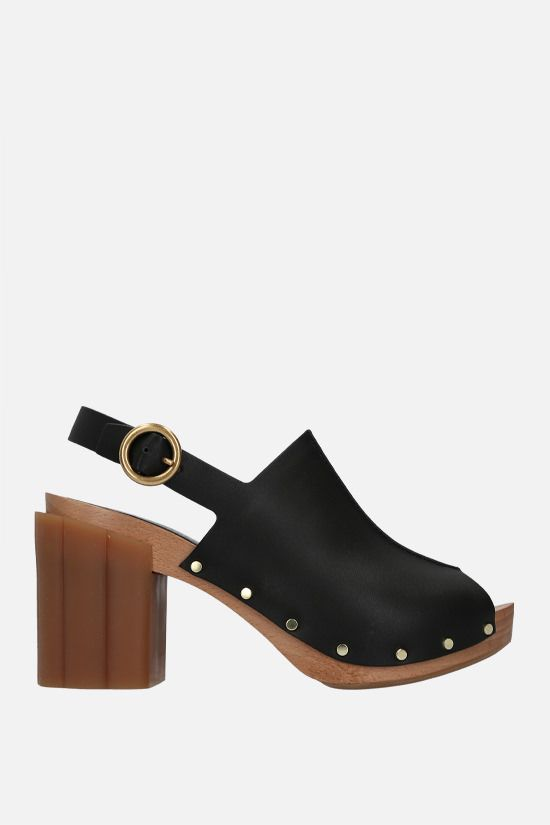 STELLA McCARTNEY: Daisy platform sandals in Alter Mat Color Black_1