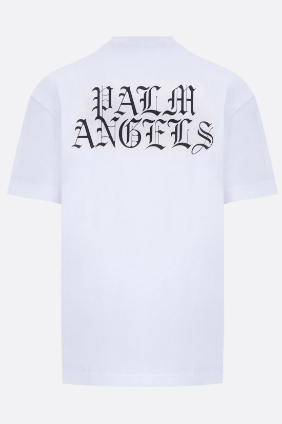 PALM ANGELS: t-shirt Burning Head in cotone Colore Bianco_2