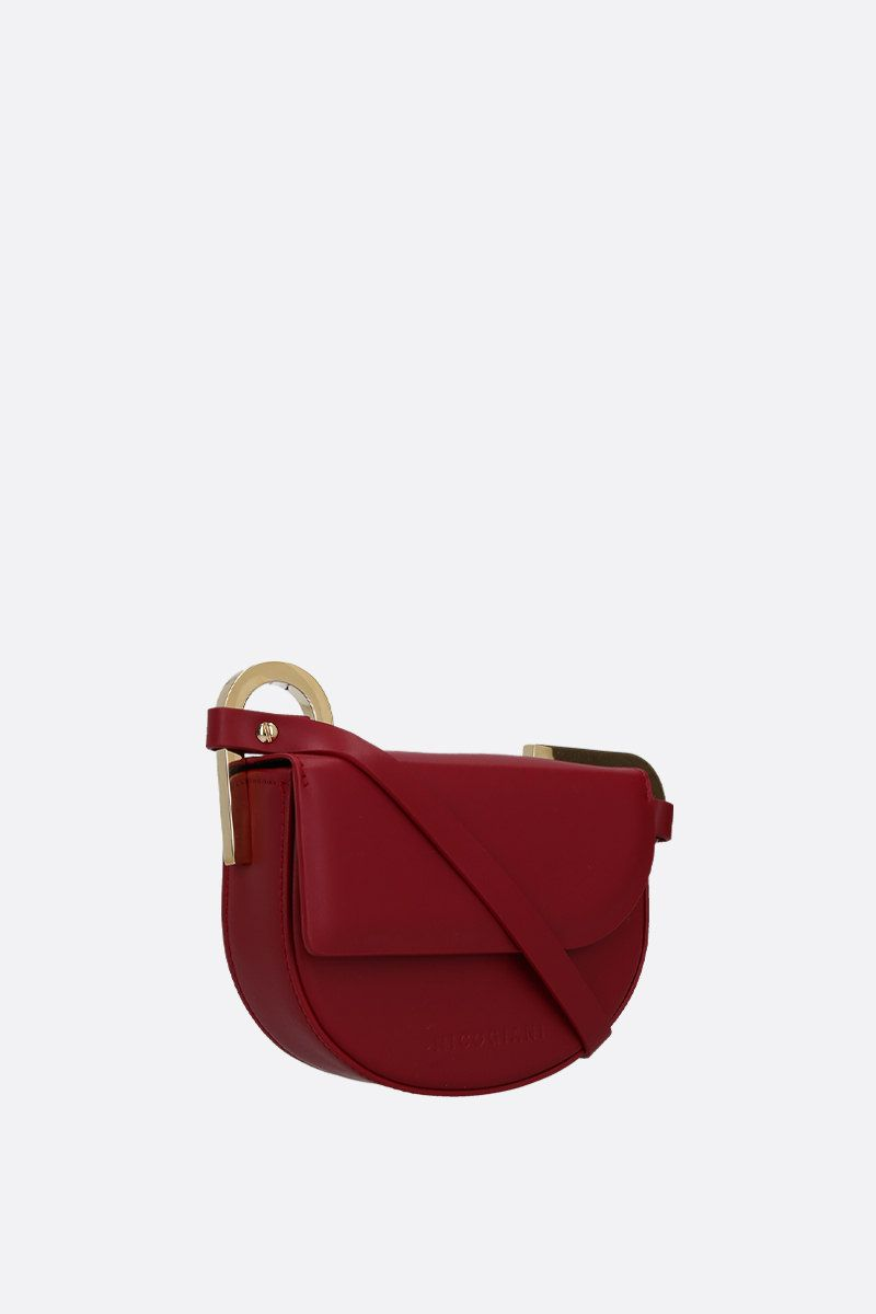 NICO GIANI: Tilly mini smooth leather shoulder bag Color Red_2