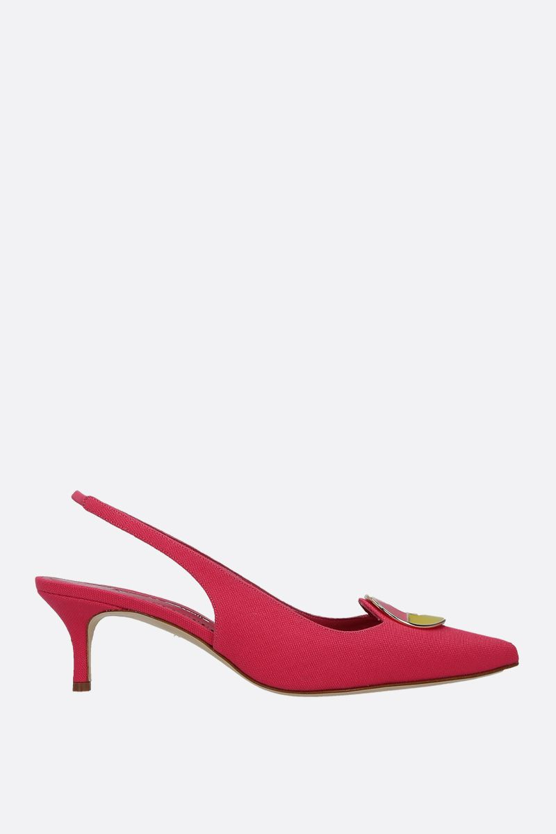 MANOLO BLAHNIK: slingback Malasli in canvas_1