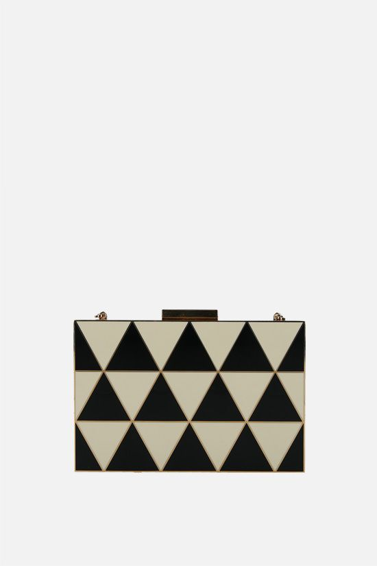 VALENTINO GARAVANI: enameled metal chain clutch Color Multicolor_1
