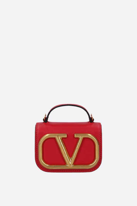 VALENTINO GARAVANI: Supervee smooth leather chain clutch_1