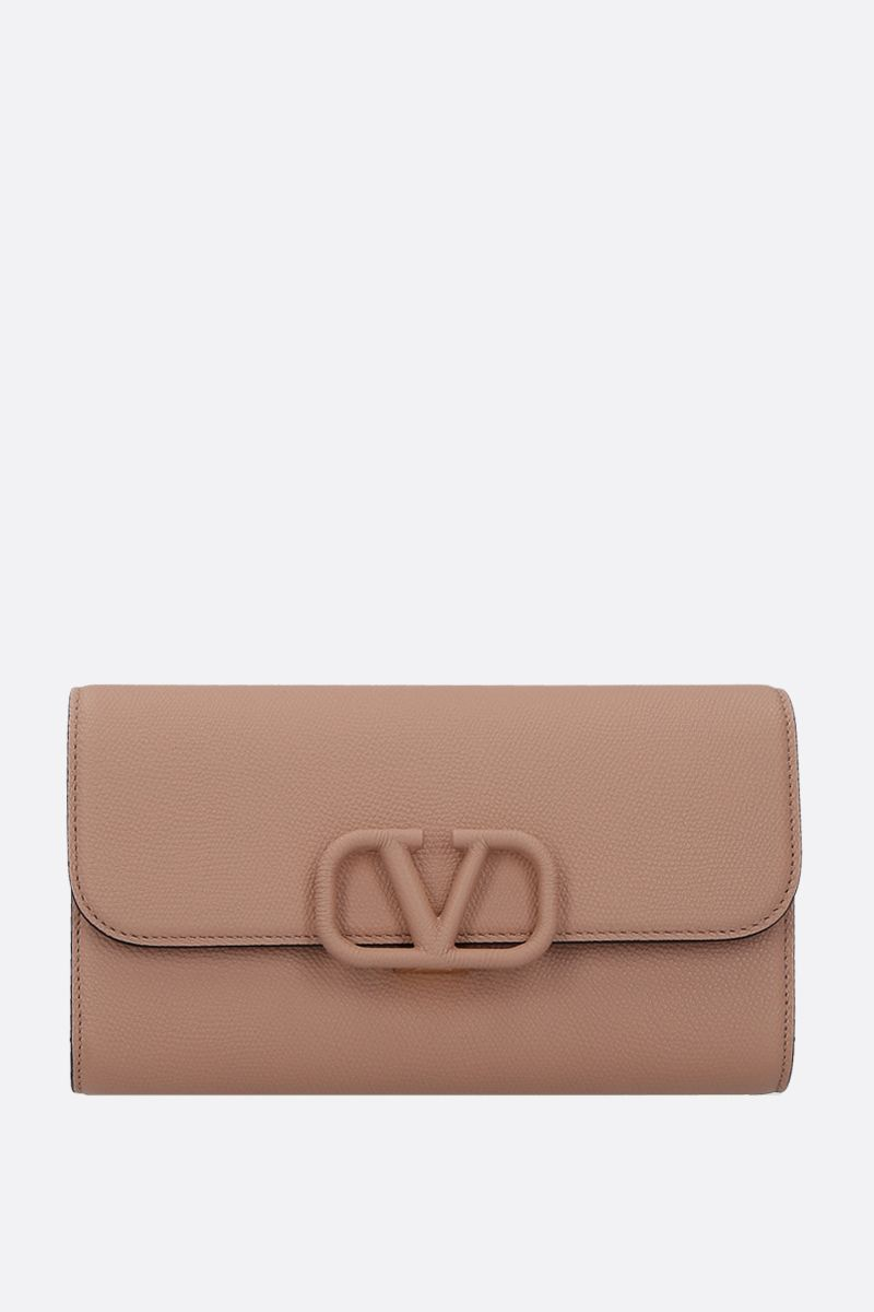 VALENTINO GARAVANI: VSLING grainy leather chain clutch_1