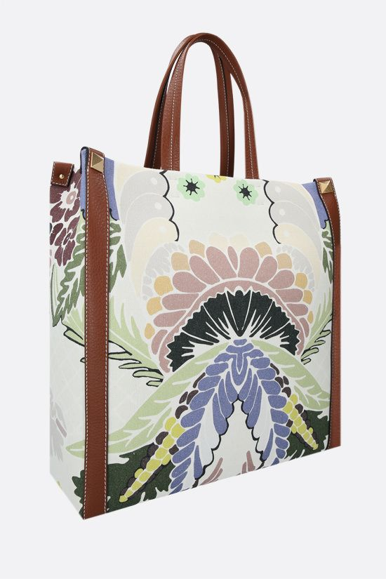 VALENTINO GARAVANI: World Arazzo print canvas tote bag Color Multicolor_2