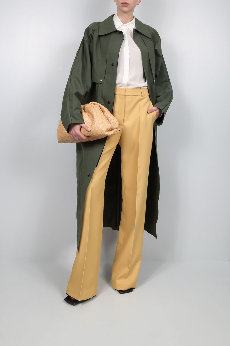 KASSL EDITIONS: technical fabric oversize trench coat Color Green_2