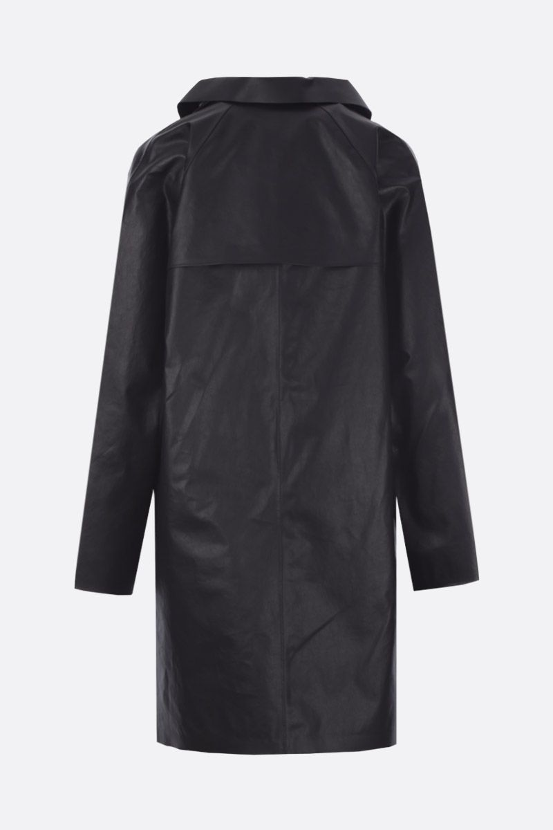 KASSL EDITIONS: coated canvas single-breasted overcoat Color Black_2