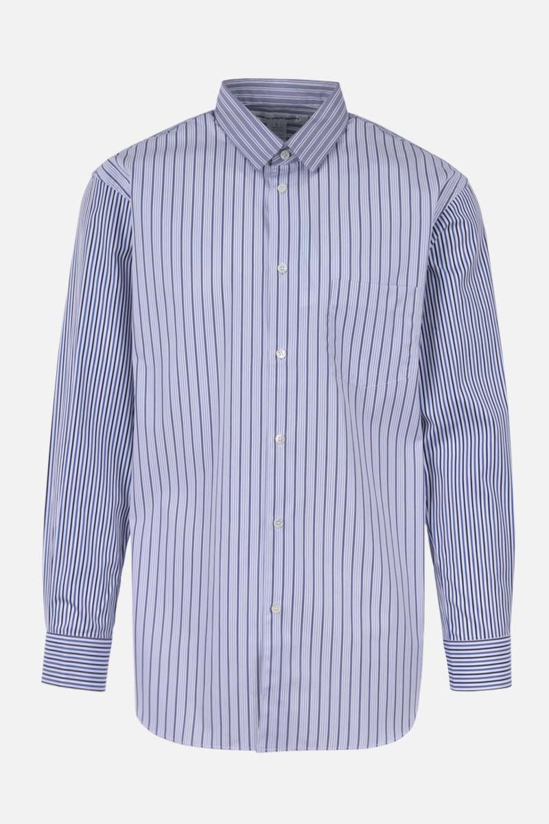 COMME des GARCONS SHIRT: striped cotton shirt Color Blue_1