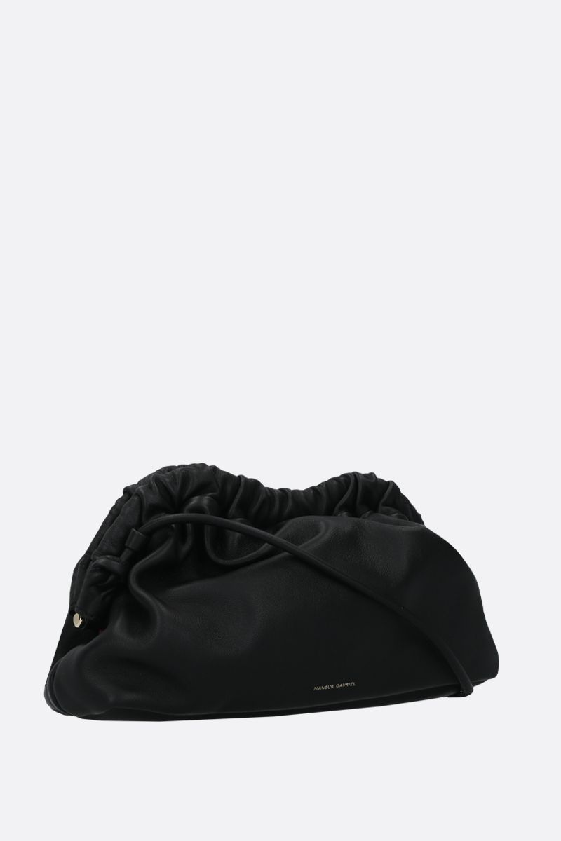 MANSUR GAVRIEL: mini Cloud soft nappa clutch Color Black_2