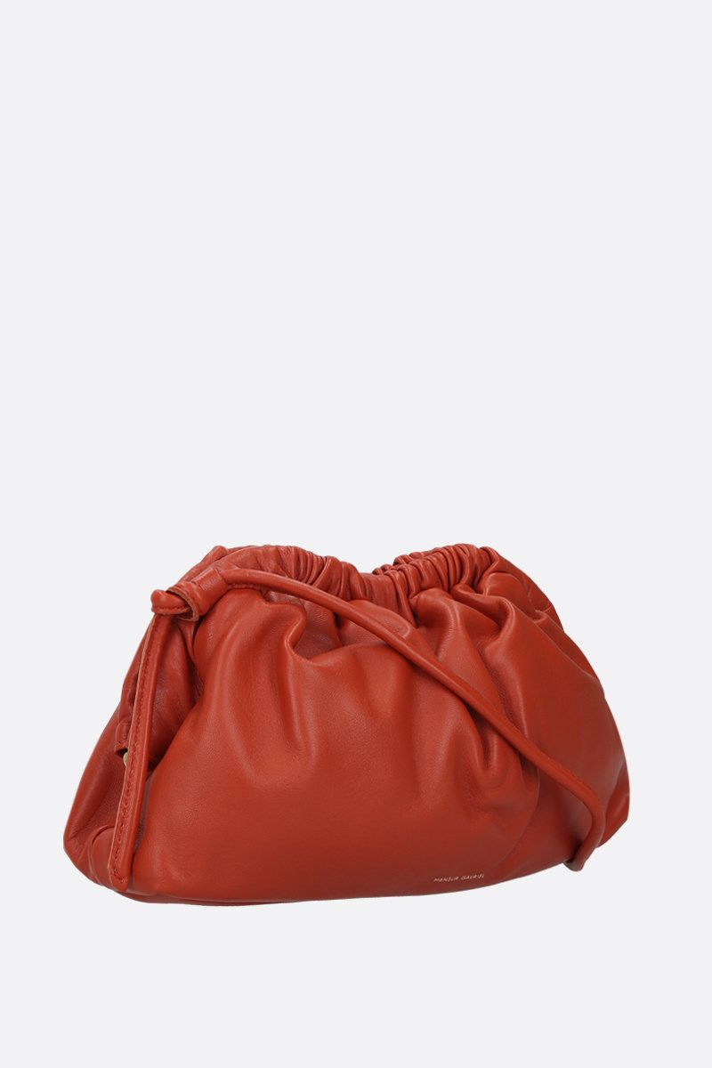 MANSUR GAVRIEL: mini Cloud soft nappa clutch Color Orange_2