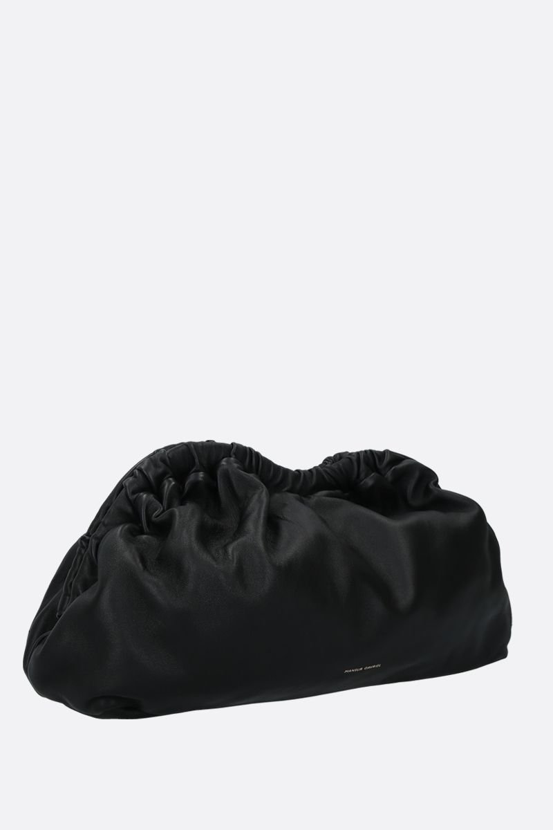 MANSUR GAVRIEL: Cloud soft nappa clutch Color Black_2