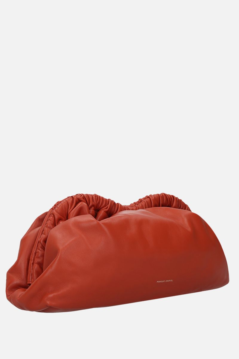 MANSUR GAVRIEL: Cloud soft nappa clutch Color Orange_2