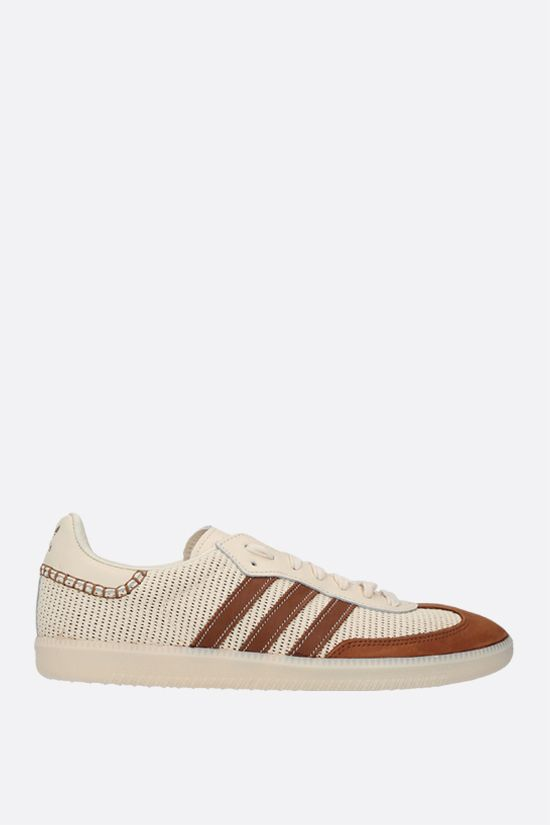 ADIDAS STATEMENT: Wales Bonner Samba mesh and suede sneakers Color White_1