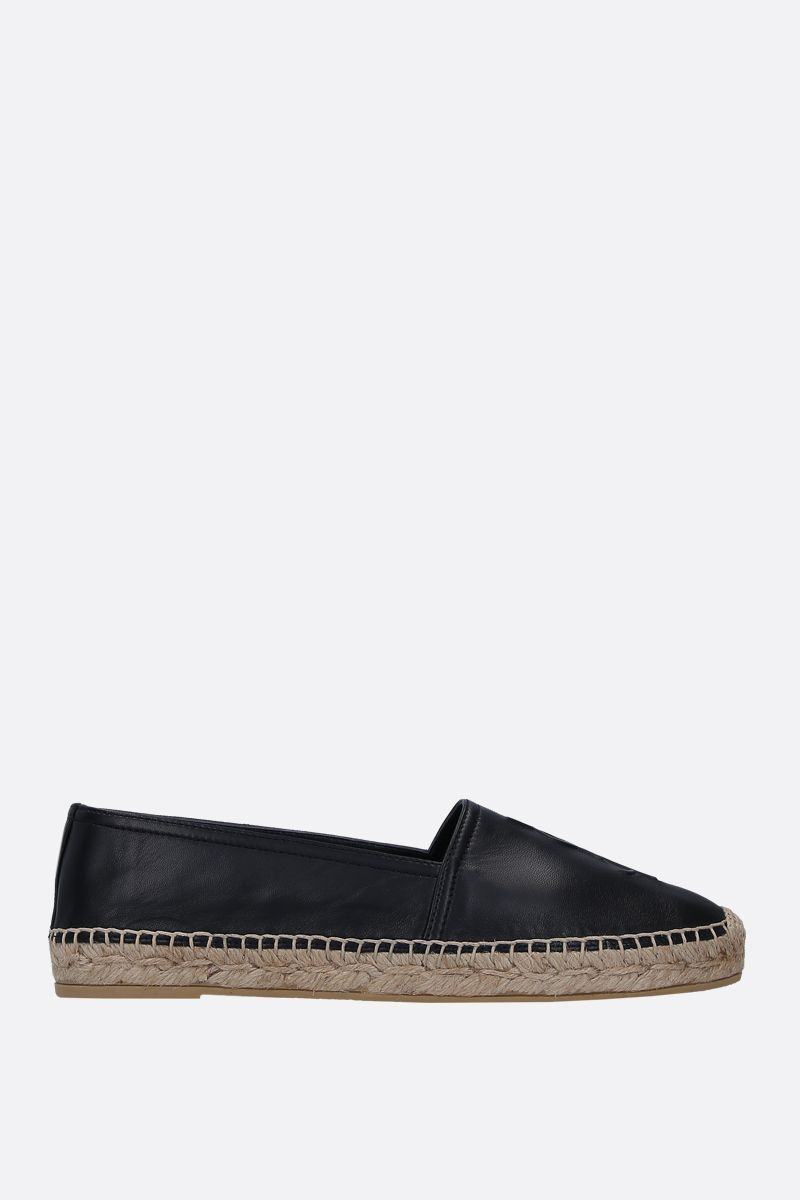 SAINT LAURENT: Monogram soft nappa espadrilles Color Black_1