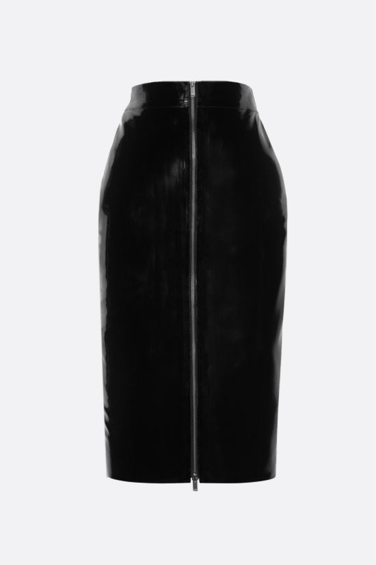 SAINT LAURENT: latex pencil skirt Color Black_2