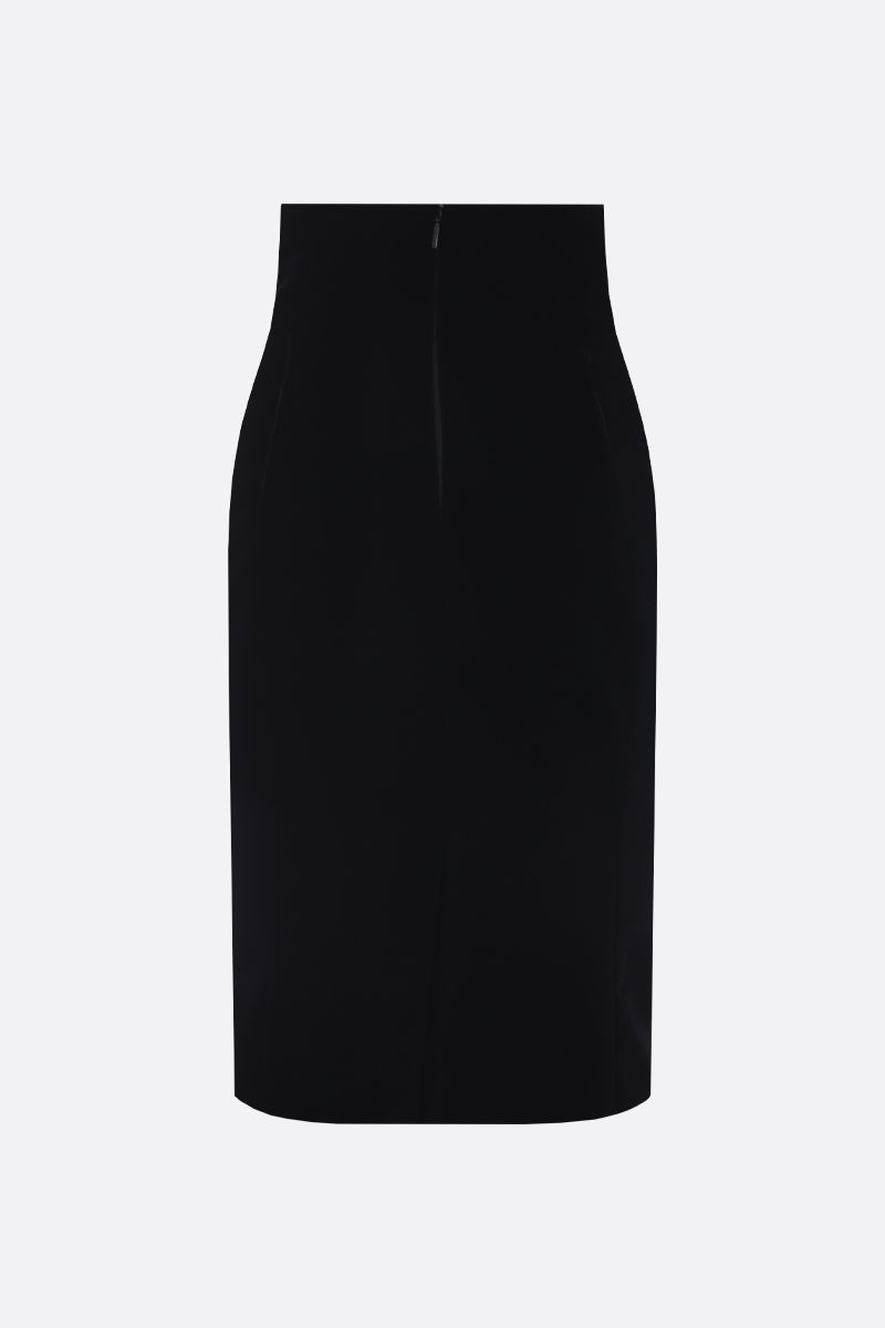 SAINT LAURENT: velvet pencil skirt Color Black_2
