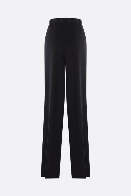 SAINT LAURENT: darted wide-leg wool pants Color Black_2