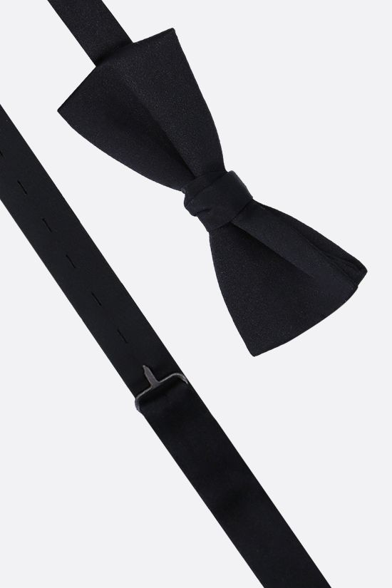 SAINT LAURENT: Yves bow tie in satin Color Black_2