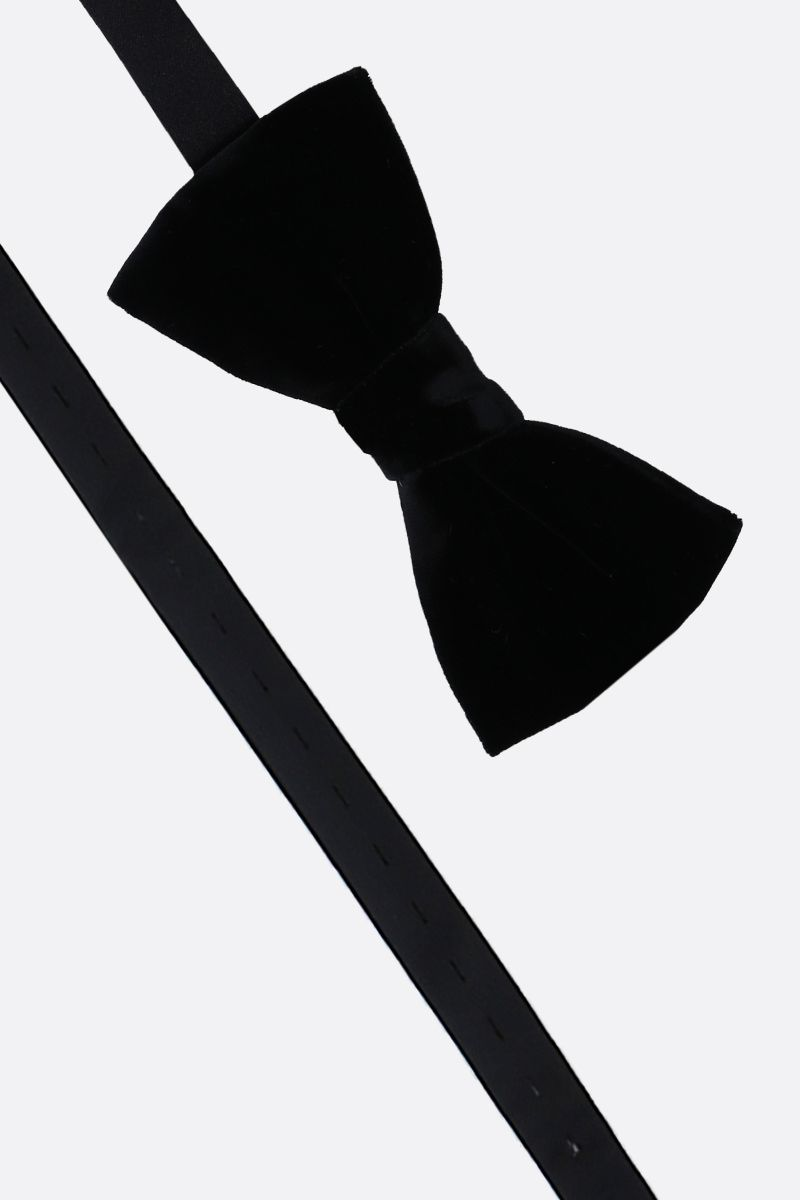 SAINT LAURENT: soft velvet bow tie Color Black_2