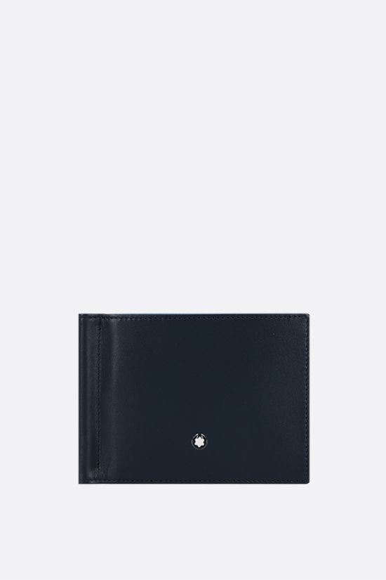 MONTBLANC: Meisterstück smooth leather wallet with money clip Color Blue_1