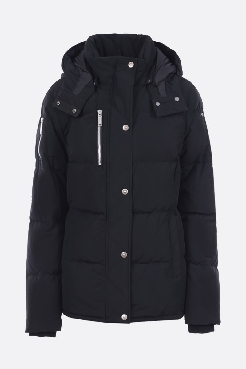 MOOSE KNUCKLES: Homewood technical cotton down jacket Color Black_1