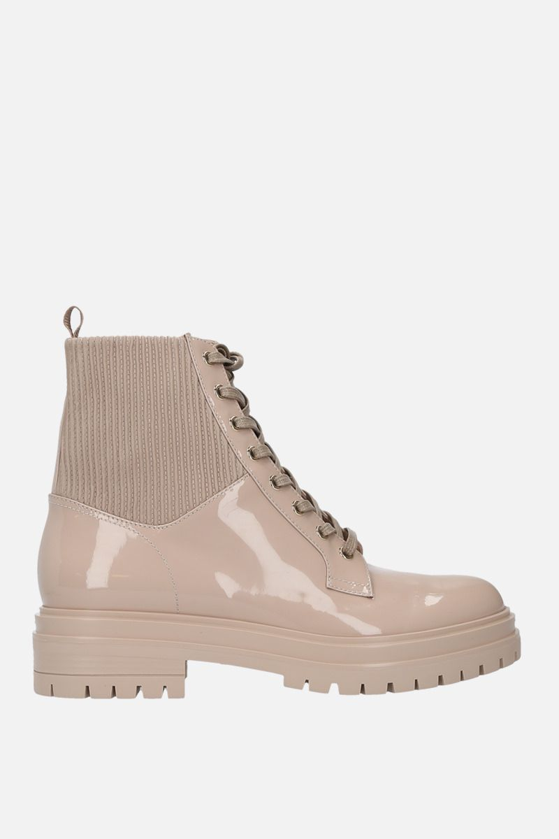 GIANVITO ROSSI: Martis patent leather combat boots_1